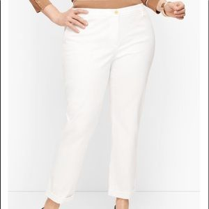 NEW TALBOTS Relaxed Chino Pant White